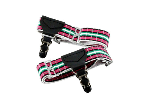 Pink Plaid Sock Garters - Fine and Dandy