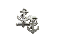 Silver Anchor Cufflinks - Fine and Dandy