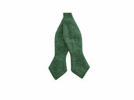 Green Cotton Twill Bow Tie
