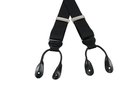 Black Grosgrain Suspenders - Fine and Dandy