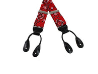 Bandana Print Grosgrain Suspenders - Fine and Dandy