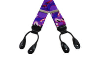 Purple Camouflage Grosgrain Suspenders - Fine and Dandy