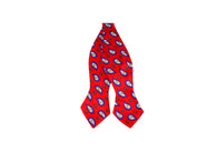 Red Paisley Silk Bow Tie - Fine and Dandy