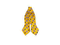Yellow Patterned Silk Bow Tie - Fine and Dandy