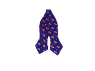 Blue Paisley Silk Bow Tie - Fine and Dandy