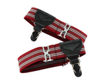 Single Grip Red Striped Sock Garters - Fine and Dandy