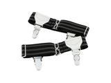 Double Grip Black Striped Sock Garters - Fine and Dandy