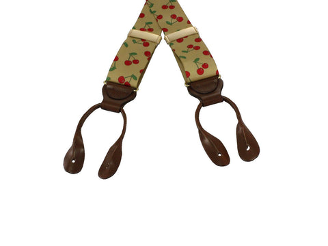 Cherries Grosgrain Suspenders - Fine and Dandy