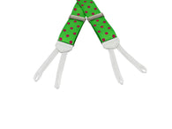 Green Polka Dot Grosgrain Suspenders - Fine and Dandy
