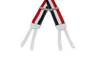 Red, White, & Blue Grosgrain Suspenders - Fine and Dandy