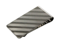 Diagonal Striped Money Clip