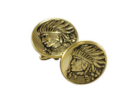 Indian Head Cufflinks - Fine and Dandy