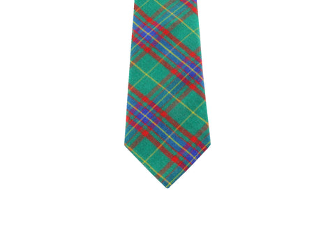 Green Tartan Wool Tie - Fine and Dandy