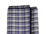 Purple Plaid Cotton Pocket Square - Fine and Dandy