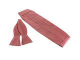 Red Birdseye Cotton Cummerbund (With Bow Tie) - Fine and Dandy