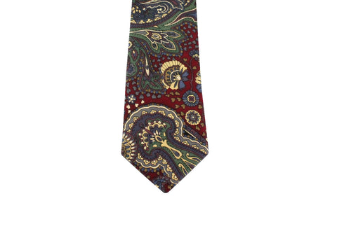 Burgundy Persian Silk Tie - Fine and Dandy