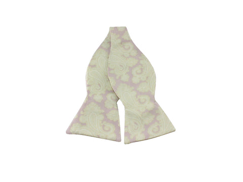 Oversized Lavender Paisley Silk Bow Tie - Fine and Dandy