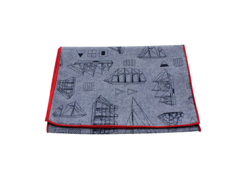 Tall Ships Chambray Cotton Scarf - Fine and Dandy