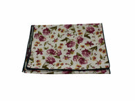 Purple Floral Cotton Scarf - Fine and Dandy