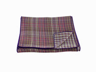 Purple Plaid Double Sided Cotton Scarf - Fine and Dandy
