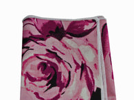 Rose Cotton Pocket Square - Fine and Dandy