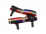 Double Grip Rainbow Striped Sock Garters - Fine and Dandy