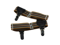 Brown Striped Sock Garters - Fine and Dandy