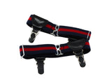 Double Grip Red & Navy Sock Garters - Fine and Dandy