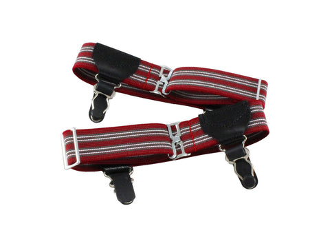 Double Grip Red Striped Sock Garters - Fine and Dandy