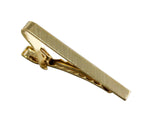 Gold Brushed Rectangular Tie Bar - Fine and Dandy