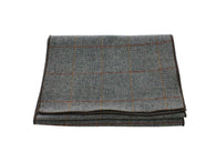 Charcoal Check Wool Scarf - Fine And Dandy