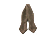 Taupe Herringbone Wool Bow Tie - Fine and Dandy