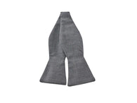 Charcoal Tattersall Cotton Bow Tie - Fine and Dandy