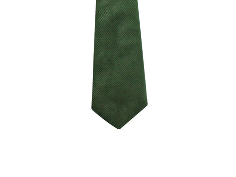 Green Corduroy Cotton Tie - Fine and Dandy