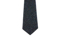 Black Donegal Tweed Wool Tie - Fine And Dandy