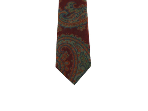Burgundy Paisley Silk Tie - Fine and Dandy