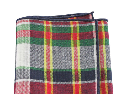Madras Cotton Pocket Square
