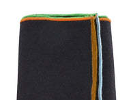 4 Colored Edge Wool Pocket Square - Fine and Dandy