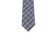 Blue Check Cotton Tie - Fine and Dandy