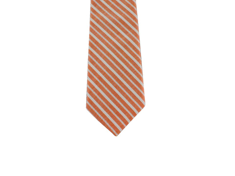 Peach Striped Cotton Tie - Fine and Dandy