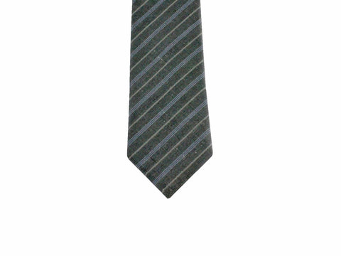 Grey Striped Cotton Tie - Fine And Dandy