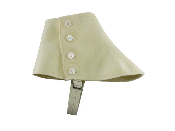 Cream Wool Felt Spats