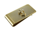 Gold Silver Fleur-De-Lis Money Clip - Fine and Dandy