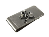 Silver Skull & Crossbones Money Clip - Fine and Dandy