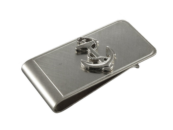 Silver Anchor Money Clip - Fine and Dandy