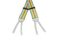 Pistachio Striped Grosgrain Suspenders - Fine and Dandy