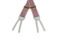 Pink Striped Grosgrain Suspenders - Fine and Dandy