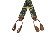 Camouflage Grosgrain Suspenders - Fine and Dandy