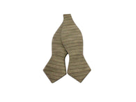 Sand Striped Linen Bow Tie - Fine and Dandy