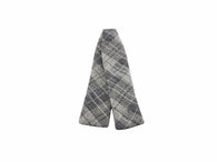 Grey Check Batwing Bow Tie - Fine and Dandy